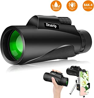 Monocular Telescope, 12X50 High Power HD Monocular with Smartphone Holder & Tripod, Waterproof Monocular with Durable and Clear FMC BAK4 Prism for Bird Watching, Camping, Hiking, Match - [2019 Newest]