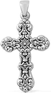 Best sterling cross pendant Reviews