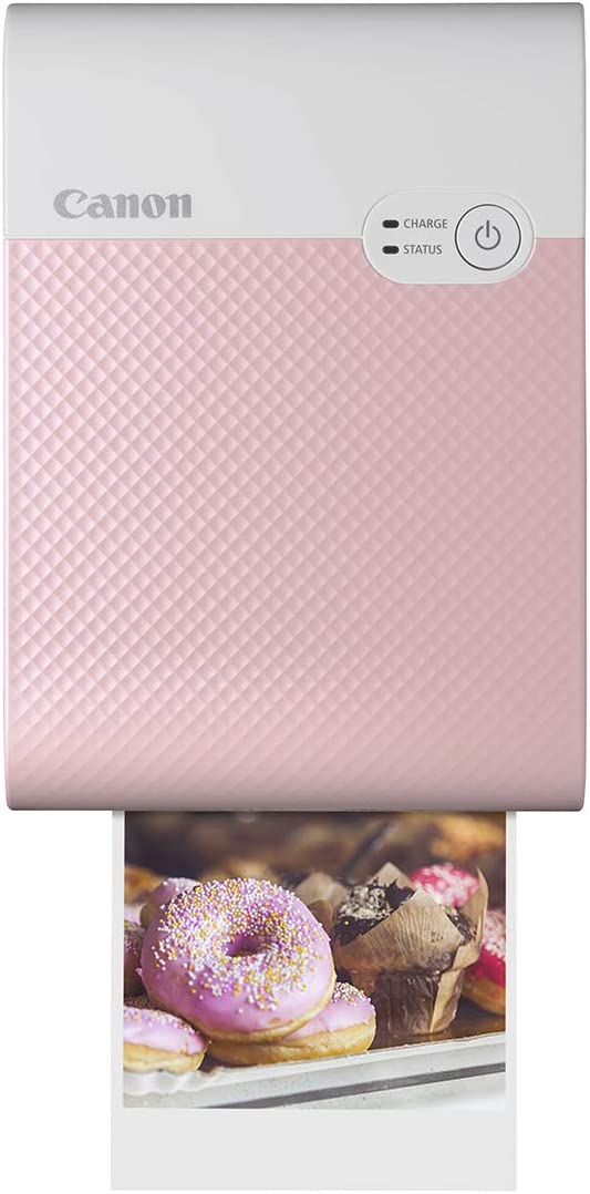 Canon SELPHY QX10 Portable Square Photo Printer for iPhone or Android, Pink