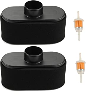Harbot Pack of 2 Air Filter with Fuel Filter for John Deere X300 X 304 X320 X 324 X500 X 534 X584 X 580 X570 X 394 Z445 X 300R Z465 X 360 X530 Z645 Z655 WG32A WH36A WG48A Lawn Mower Tractor