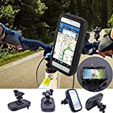 Touch-Friendly Bike/Bicycle Mobile Mount for Motorcycle with Waterproof Case - Holds Cell Phone