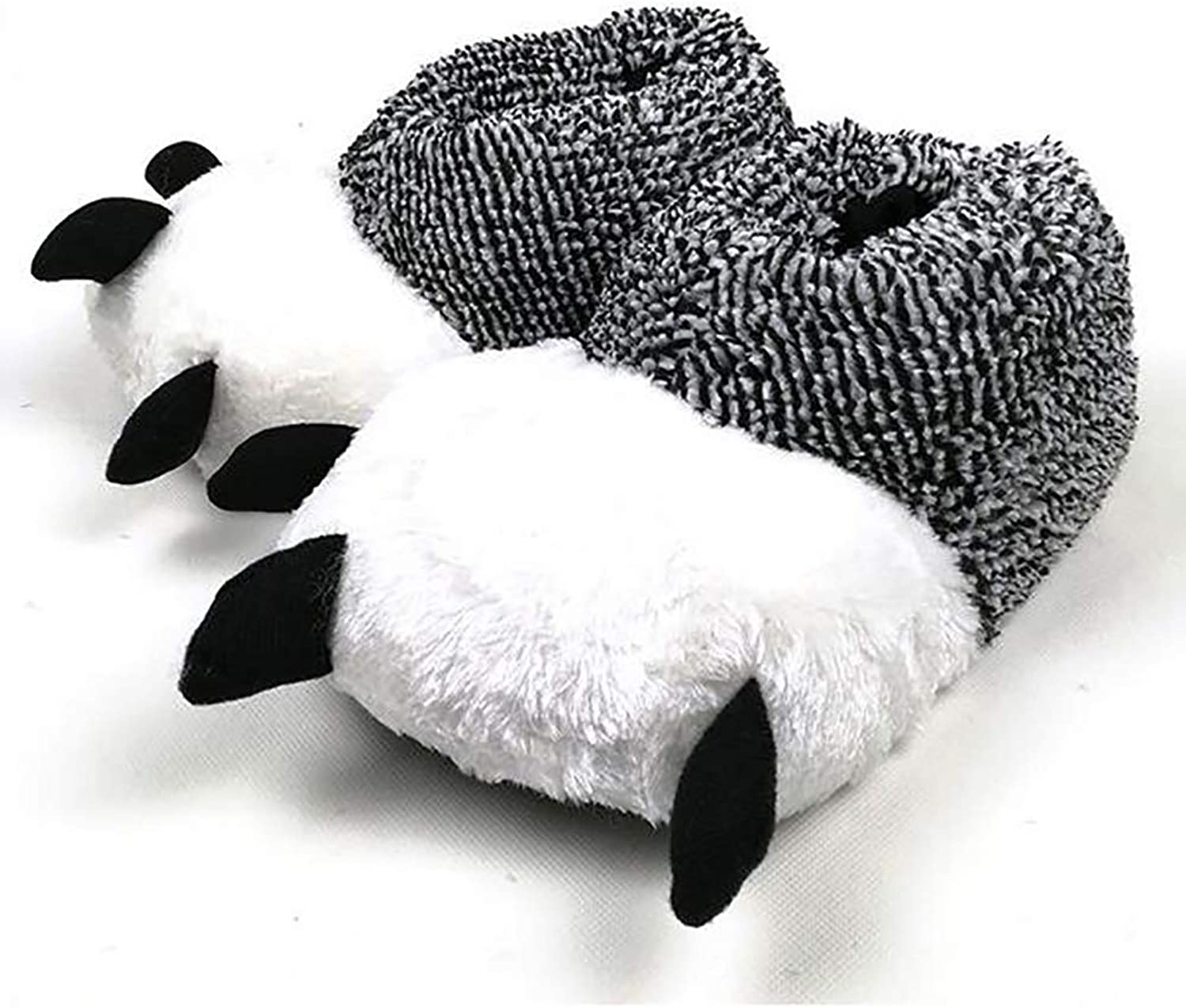 Plush Slippers shoes Soft Cotton Animal Bear Claw Flip Flops Autumn Winter Warm Home Indoor shoes,44 45