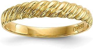 14ct Madi K infantil pulido Twist anillo