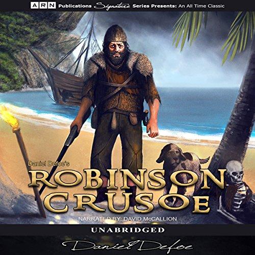 Robinson Crusoe audiobook cover art