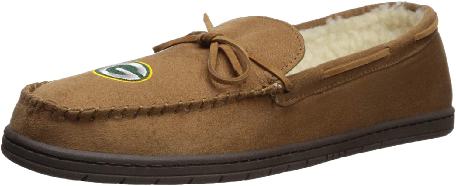 FOCO Green Bay Packers Mens Moccasin Slipper Extra Large