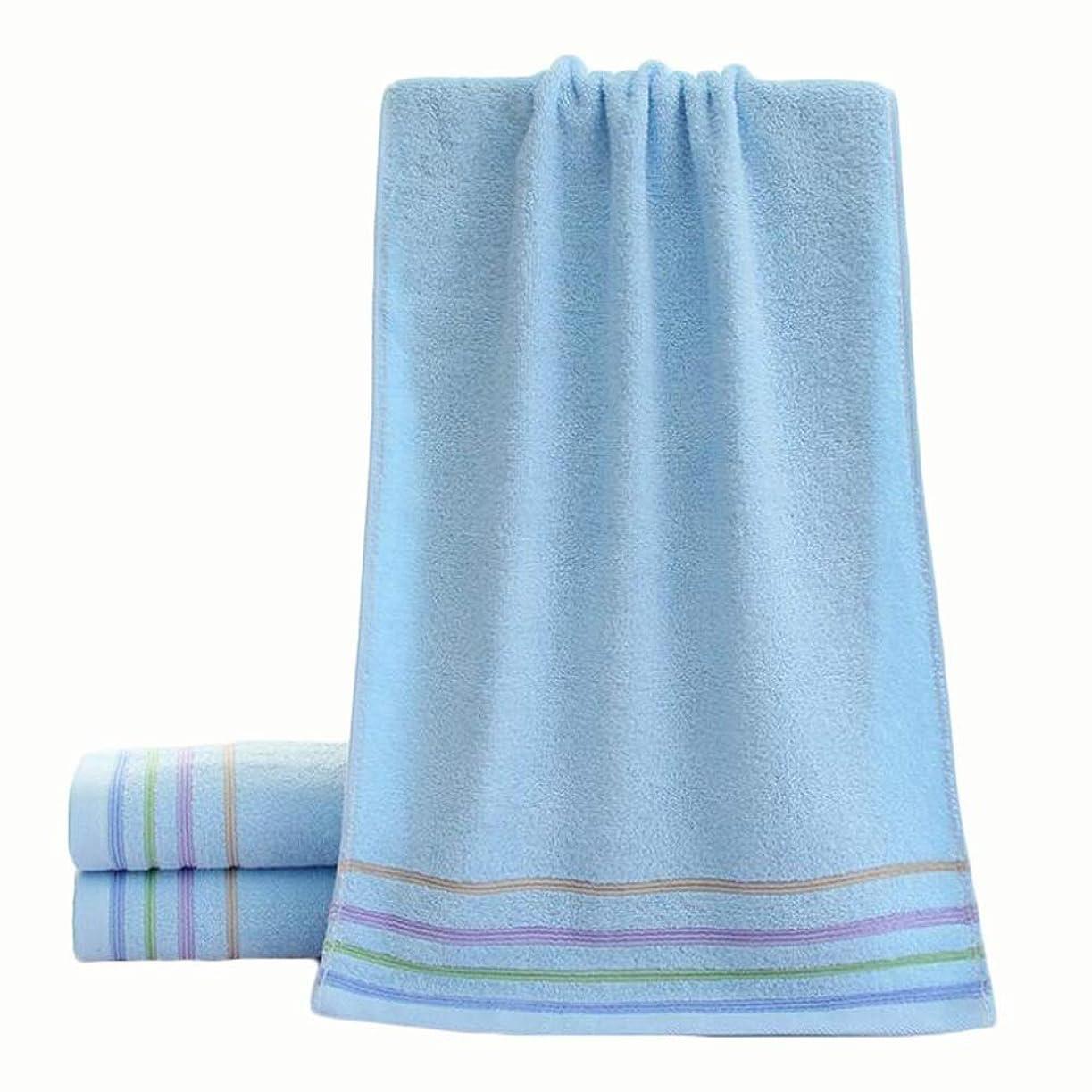 事役職一回CXUNKK 2PCS / LOT家庭用綿肥厚吸収性バスタオルジャカードウォッシュタオル (Color : Blue)