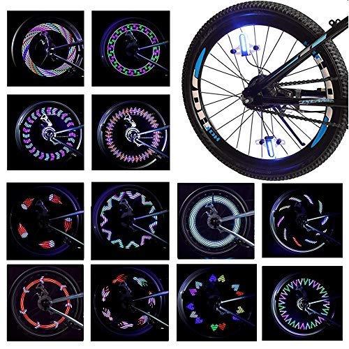 LeBoLike Bike Spoke Light Waterproof Colorful LEDs Bike Wheel...