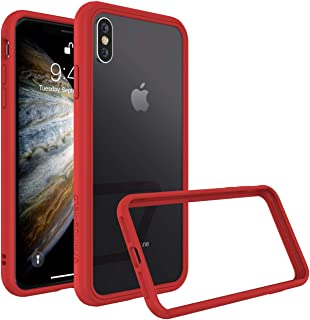 RhinoShield Ultra Protective Bumper Case for [ iPhone X/XS ] CrashGuard NX, Military Grade Drop Protection for Full Impact, Slim, Scratch Resistant, Red
