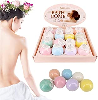 Natural Bath Kit Moisturizing Bubble Bath Bomb Ball Essential Oil Handmade SPA Stress Relief Exfoliating Bath Salt Bathing Shower Bombs Natural Quality (Size : 10, Smell : Random Color)