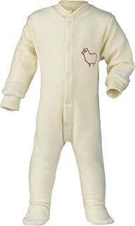 Footed Sleep and Play: Organic Wool Footie Sleeper Pajamas for Baby Boys or Girls
