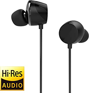 TUNAI Drum Hi-Resolution Audiophile in-Ear Earbud Headphones – Powerful Bass and Lively Sound Stage with Improved Noise Isolation; Comfortable for Workout, Running and Great for Gaming (Shadow Black)