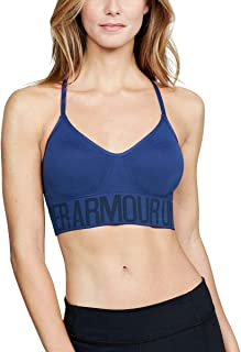 Under Armour Women's UA HeatGear Armour Seamless Bra w/Cups Formation Blue/Formation Blue/Formation Blue Small