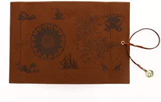 Elonglin PU Leather Pencil Roll Case Vintage Pencil case Pen Bag Pencil Holder Brown 2