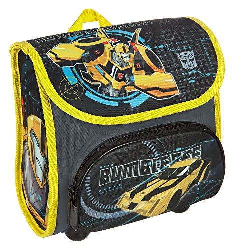 Scooli TFUV8240 - Vorschulranzen Cutie mit Klettverschluss, ergonomisch, leicht, Transformers mit Bumblebee und Optimus Prime Motiv, ca. 4,5 Liter