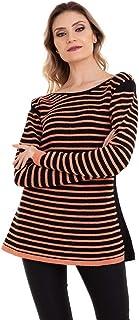 Blusa Tricot Listrada Cordão Mousse Kinara