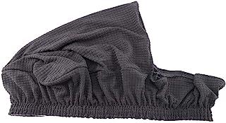 4 fundas de silla elástica jacquard impermeable lavable extraíble cojín de asiento de comedor para cocina (gris)