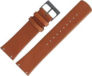 Skagen SKW6106 - Cinturino per orologio, in pelle liscia, 23 mm, colore: marrone