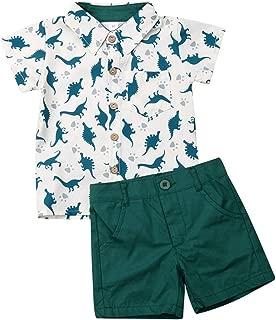 Toddler Little Boy Kids Summer Floral Shirt Blouse Tops + Bermuda Shorts Outfit Set Clothes