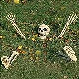 ConPush Halloween Skelett, Garten Rasen Skeleton Stakes mit beweglichen Gelenken für die Beste Halloween Dekoration
