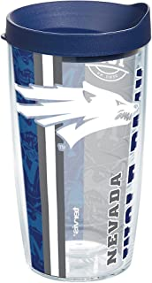 Tervis 1229586 Nevada Wolf Pack College Pride Tumbler with Wrap and Navy Lid 16oz, Clear