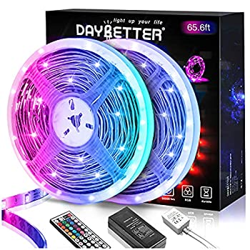 Daybetter 5050 RGB 600 LEDs Flexible Color Changing Remote Control Led Strip Lights - 65.6ft