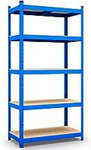 Panorama24 Opbergrek, blauw, belastbaar tot 875 kg, afmetingen: 200 x 100 x 60 cm, kelderrek, steekrek, werkplaatsrek, rek...