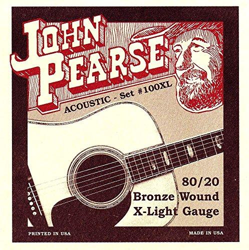John Pearse Strings Extra Large Guitar Set Bronze