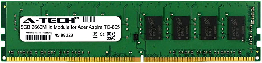 A-Tech 8GB Module for Acer Aspire TC-865 Desktop & Workstation Motherboard Compatible DDR4 2666Mhz Memory Ram (ATMS267503A25818X1)