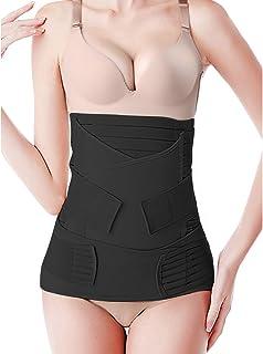 3 في 1 حزام دعم البطن بعد الولادة للتعافي التفاف البطن / الخصر / بيلفيس أحزمة حزام للنساء الخصر مدرب ملابس داخلية
