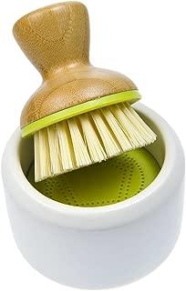 Full Circle Bubble Up Soap Dispenser & Dish Brush Set, Green & White (Pack of 4)