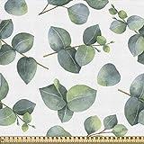 ABAKUHAUS Blatt Gewebe als Meterware, Aquarell Eukalyptus