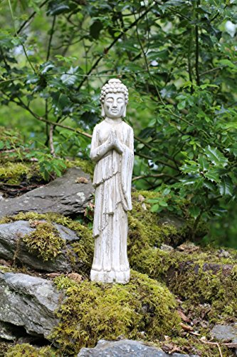Bouddha debout en bois flotté Effet Pierre Jardin Extérieur Intérieur Statue Décoration