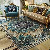 Fancytan Grand Tapis Oriental Persan Vintage pour Salon Chambre à Coucher Bleu Ciel,...