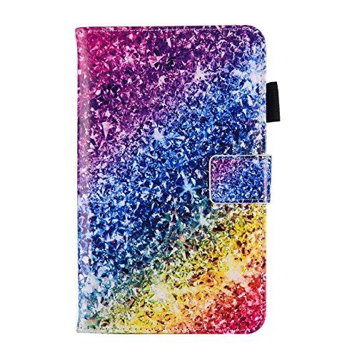 HereMore Cover per Samsung Galaxy Tab 3 7.0 Lite SM-T110 T111 T113 T116, Custodia Antiurto Brillantini Protettiva con Supporto, Porta Penna e Tasca per Le Schede per Galaxy Tab 3 Lite 7.0