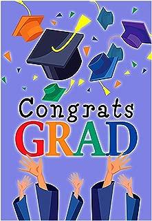 Morigins Congrats Grad House Flag Graduation Cap Celebrate Party Flag 28