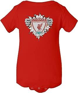 SMARTZONE Liverpool Football Club Super Hero Soccer Infant Baby Short Sleeve Bodysuit