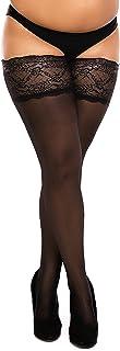 Biggi Big Lace 40 DENIER sheer stay up stockings Large Sizes