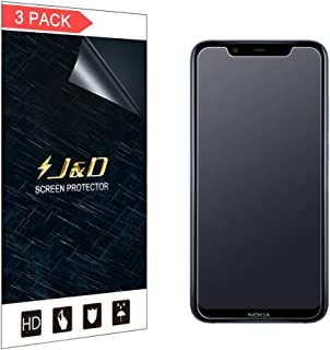 J&D Compatible for 3-Pack Nokia 8.1 Screen Protector, [Anti-Glare] [Not Full Coverage] Matte Film Shield Screen Protector for Nokia 8.1 Matte Screen Protector