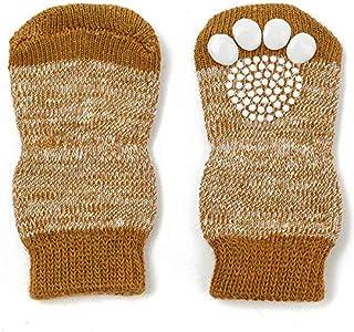 Pet Heroic 8 tamaños Calcetines antideslizantes para perros gatos, Protectores de patas para perros gatos, control de tracción para el uso en interiores, ajuste para perros extra pequeños a grandes