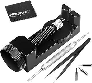 Kit Outil Montre Chasse Goupille Bracelet Remover en Métal, Eventronic Outils Réglage Réparation de Bracelet Montre Bande ...