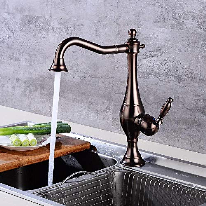 Wasserhhne Waschtischarmaturen Rotierender Tellerhahn Des Weinlese-Kugel-Küchenhahns Des Heien Und Kalten Wassers über Gegenbassin-Hahnhahn