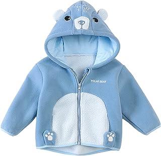 Surgoal Chaquetas Acolchada Invierno para Bebé Niños y Niñas Espesar Polar Abrigos con Capucha Outwear de Dibujos Animados