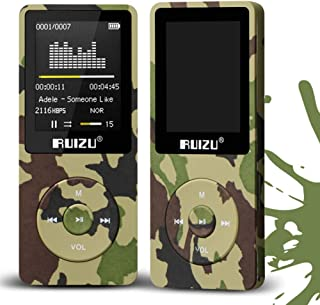 TZOU RUIZU X02 8GB 1.8 Inch Screen MP3 Player with FM E-Book Clock Data ArmyGreen 8GB