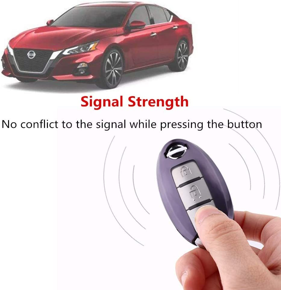 Red TL Compatible for Nissan Infiniti Key Fob Cover-Soft TPU Key Fob Case Sleeve Protector Shell Remote Smart Key Holder Jacket with Key Chain for Nissan Armada Murano Rogue Maxima Altima Sedan
