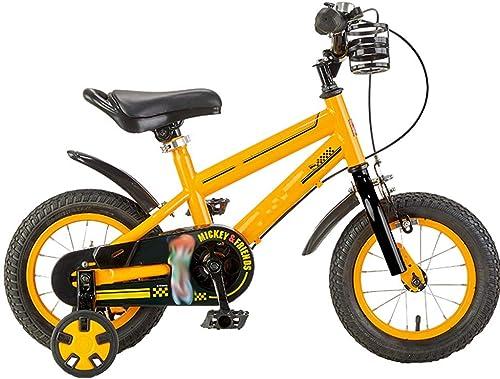 comprar nuevo barato YUMEIGE Bicicletas Bicicletas Bicicletas Bicicletas Infantiles, con portavasos Bicicleta Estilo Libre con Ruedas de Entrenamiento Bicicletas de Carretera 14 16 Pulgadas Adecuado para Niños de 3-8 años Regalo Ideal amarill  precios mas bajos