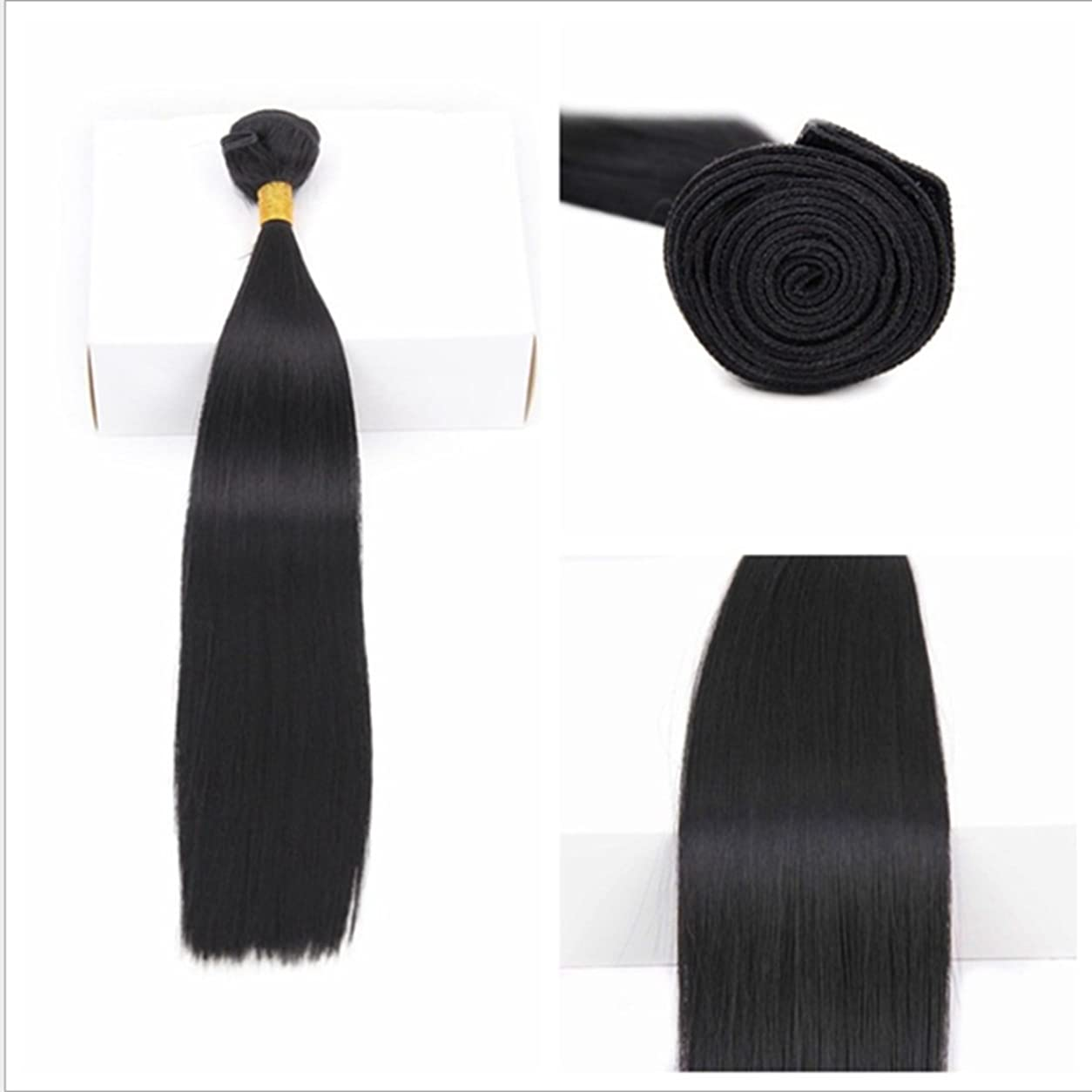 トースト音節達成するJIANFU ブラジル 女性 耐熱 長い ストレート ウィッグ ヘア カーテン 非染色(70g / 100g) 18 インチ 至る 10インチ ブラックヘア (サイズ : 20inch(100g))