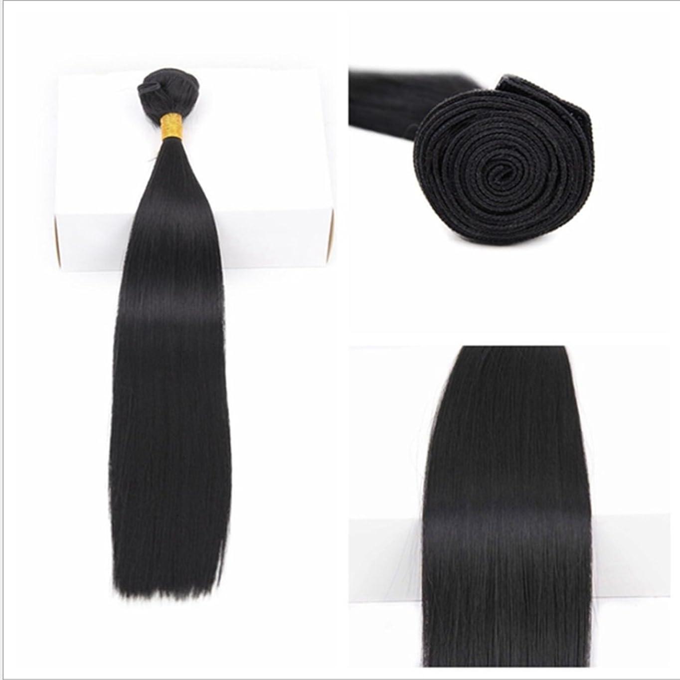 応じるイタリアの明らかJIANFU ブラジル 女性 耐熱 長い ストレート ウィッグ ヘア カーテン 非染色(70g / 100g) 18 インチ 至る 10インチ ブラックヘア (サイズ : 16inch(70g))