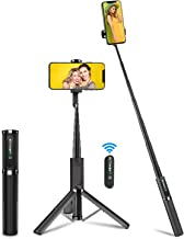 Selfie Stick Tripod, BlitzWolf Lightweight Aluminum All in One Extendable Bluetooth Selfie Stick Tripod with Remote for iPhone 11//11 Pro/XS MAX/XR/XS/X/8/8 Plus/7/7 Plus, Galaxy S10/S9, More(Grey)