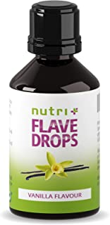 Flave Drops Vanille 30ml - Kalorienfreie Aromatropfen - Süßungsmittel Geschmackskonzentrat - Flavor Drops Vegan - Lebensmittelaroma Vanilla Flavour - Vanillearoma Made in Germany