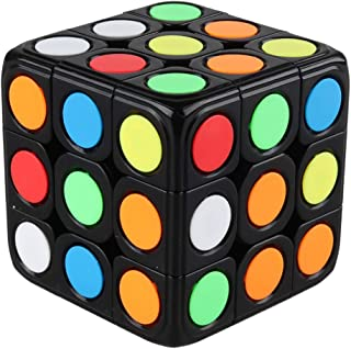 D-FantiX 3x3 Speed Cube Stickerless 3x3x3 Dot Cube Puzzles Toys for Kids Adults (Black)